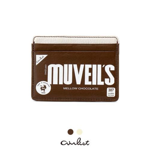 チョコレート ファスナー付パスケース